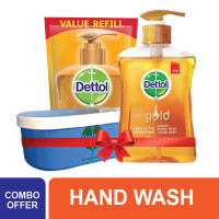 Dettol Hand Wash Gold Combo (Tiffin Box Free)