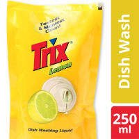 Trix Dishwashing Liquid Refill 250ml Sparkling Clean with Lemon Fragrance