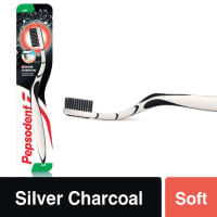 Pepsodent Toothbrush Silver Charcoal Soft