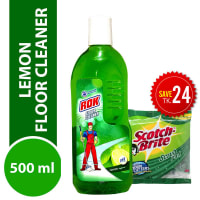 Rok Floor Cleaner Lemon Liquid (Free Scotch Brite Pad)