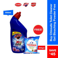Chlosafe Toilet Cleaner (Free Chlosafe Bleaching Powder 500 gm )