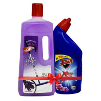 Chlosafe Toilet Cleaner 500 ml + Almer Floor Cleaner (Lavender) 900 ml (60 Tk OFF)