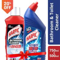 Harpic 750 ml Toilet Cleaner & 500 ml Bathroom Cleaner Manikjor Combo