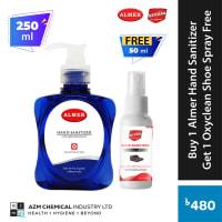 Almer Hand Santizer 250ml Get 1 Oxyclean Shoe Santizer 50ml Free