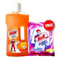 Rok Citrus Fragrance Floor Cleaner ( Free ROK Detergent Powder 500 gm)