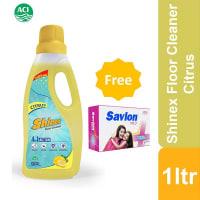 Shinex Floor Cleaner Citrus (Savlon Mild Soap 100gm Free  !)