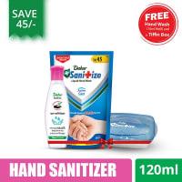 Dabur Sanitize Hand Sanitizer 120 ml (Get Handwash 170ml & Tiffin Box Free)