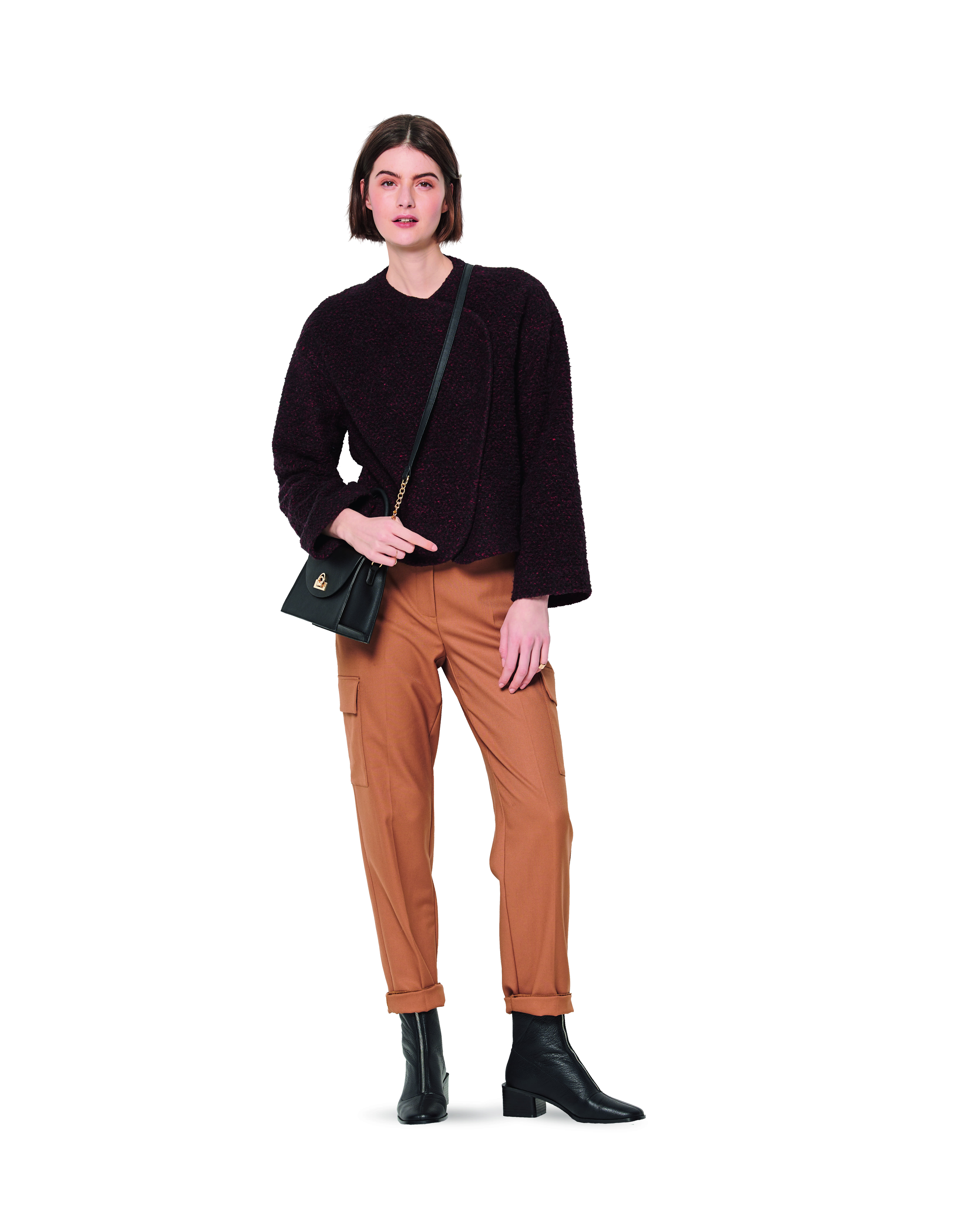Giacca - Cropped - Chiusura laterale - 6185