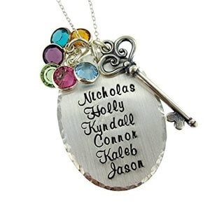 Personalized Sterling Silver Necklace - Customize with Up To 6 Names
