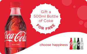 500ml Bottle of Coca Cola