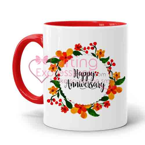 Send Anniversary Mugs To Pakistan