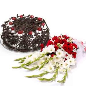 Send Cake With Flower To Pakistan
