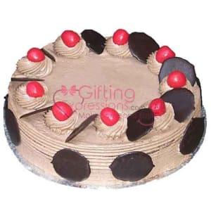 Send Fresh Chocolate Cream Cake From Serena Hotel To Pakistan