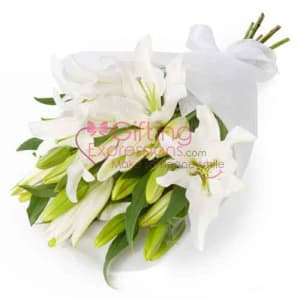 Send White Lilies To Pakistan