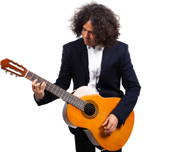 Classical Guitarist Portrait Image