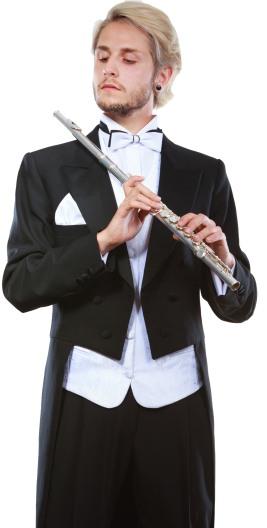 Flute Player Portrait Image