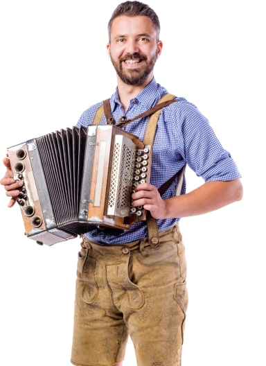 Accordion Player Portrait Image