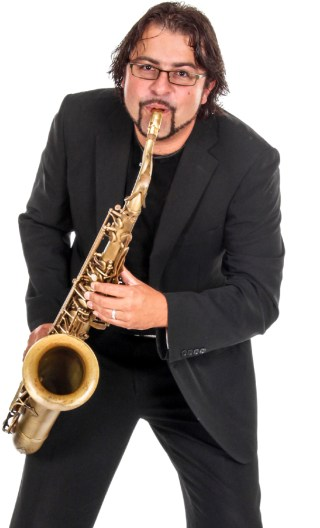 Saxophone Player Portrait Image