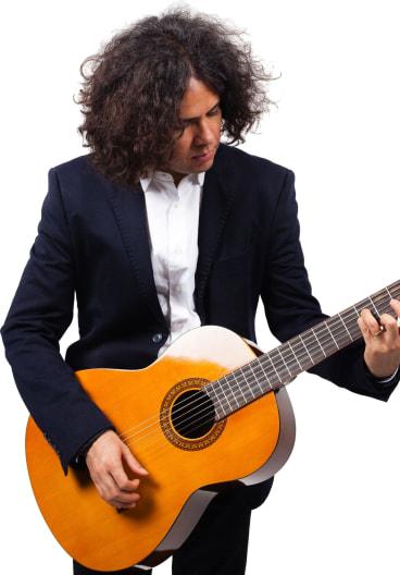 Folk Singer Portrait Image