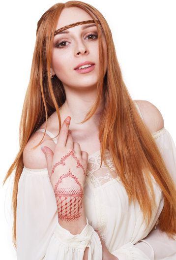 Henna Tattoo Artist Portrait Image