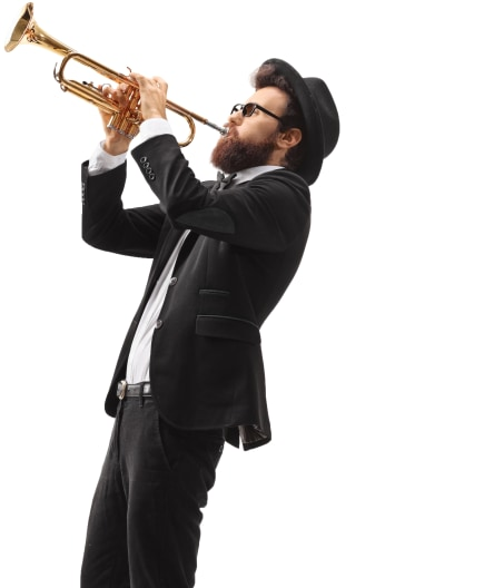 Multi-Instrumentalist Portrait Image
