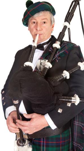 Bagpiper Portrait Image