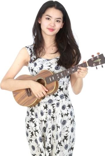 Ukulele Player Portrait Image