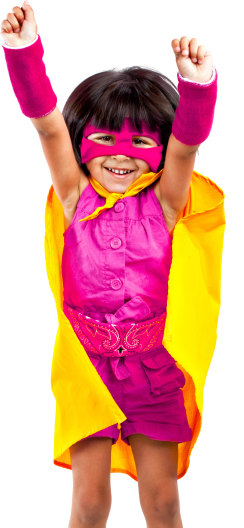 Superhero Party Portrait Image