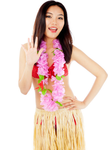 Hula Dancer Portrait Image