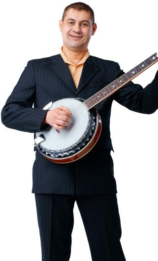 Banjo Player Portrait Image