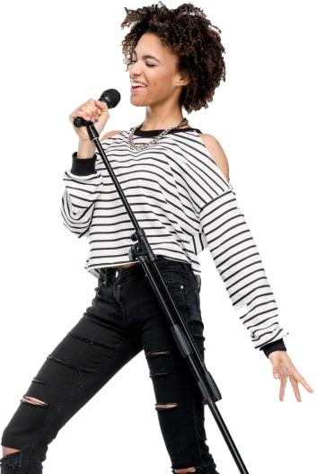 Karaoke Singer Portrait Image