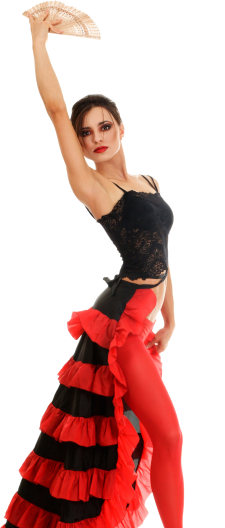 Salsa Dancer Portrait Image