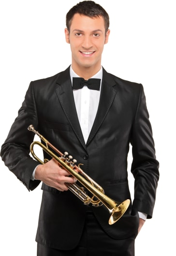 Trumpet Player Portrait Image