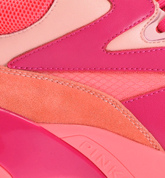 Oversized sneakers in leather - Pinko