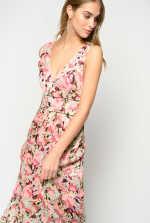 花朵图案长连衣裙