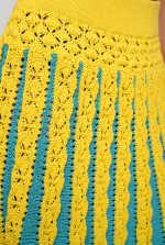 Jupe plissée en coton crochet