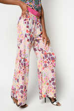 Ikat floral print trousers