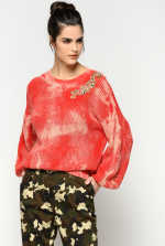 Jewel tie-dye pullover