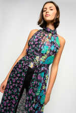 Long floral patchwork dress