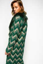 Chevron jacquard coat