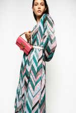 Chevron striped dress
