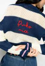 Striped pullover with embroidery