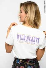 Camiseta de punto liso con bordado de caballo