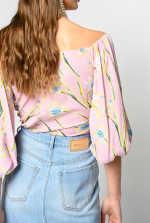 百合印花罩衫