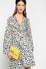 Faded spotted print dress