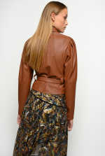 Short leather-look shirt with Love Birds buckle