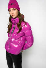 Nylon crystal quilted coat