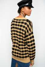 Checked jacquard pullover