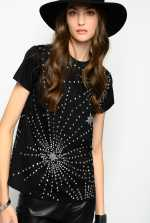 T-shirt with rhinestone stars