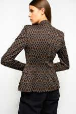 70s geometric pattern blazer